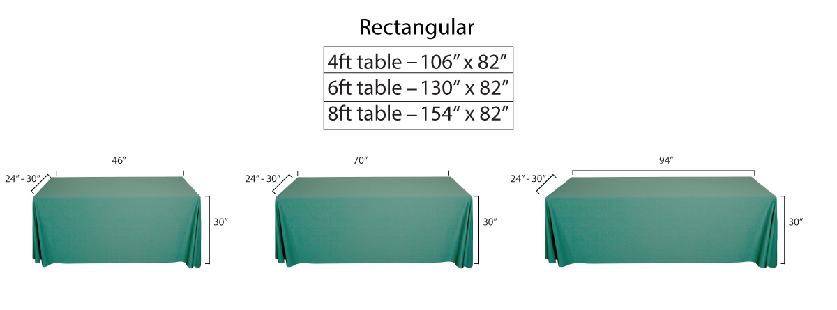 Fabric Tablecloth Table Covers, What Size Linen Do You Need For A 8 Foot Table