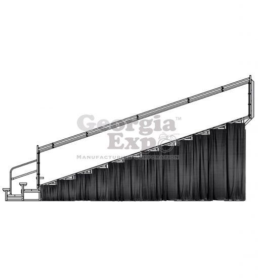 Bleacher Riser Curtain
