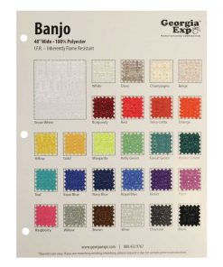 banjo swatch card