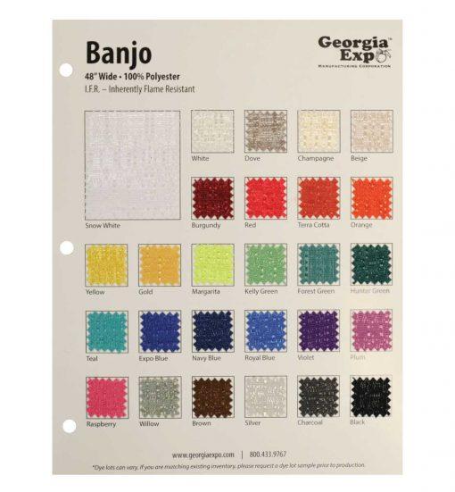 banjo swatch card