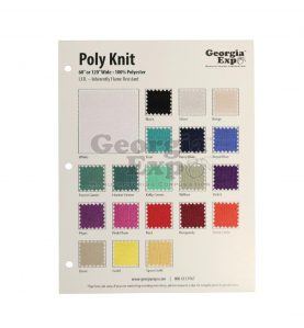 poly knit swatch card
