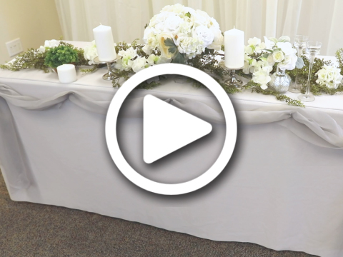 How to set up a wedding table