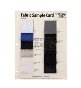 Fabric Sample Card