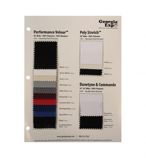 Performance Velour™ Swatch Card