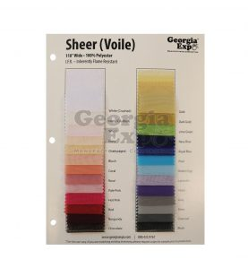 Sheer (Voile) Swatch Card