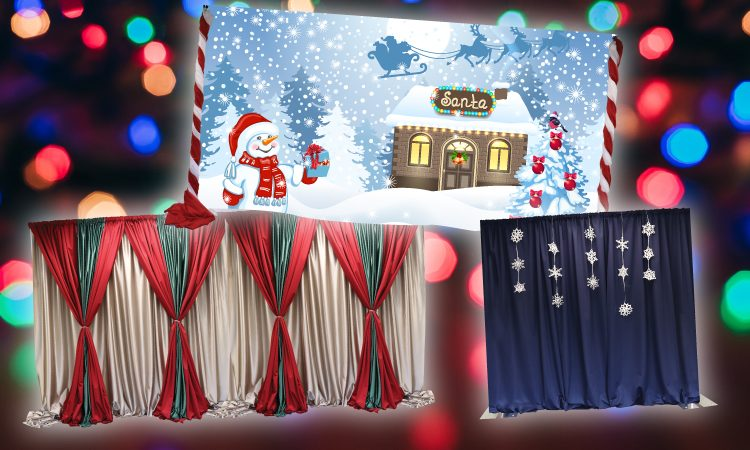 Christmas looks with pipe and drape