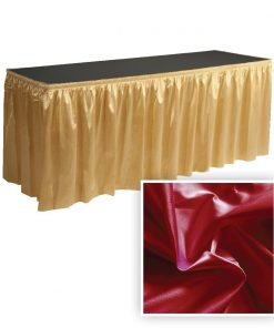 Poly Knit Table Skirt Red