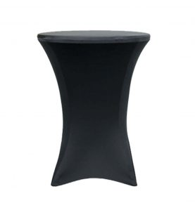 black cocktail table spandex cover