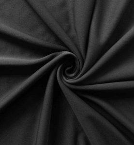Poly Stretch Drape Black