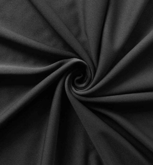 Poly Stretch Drape Black
