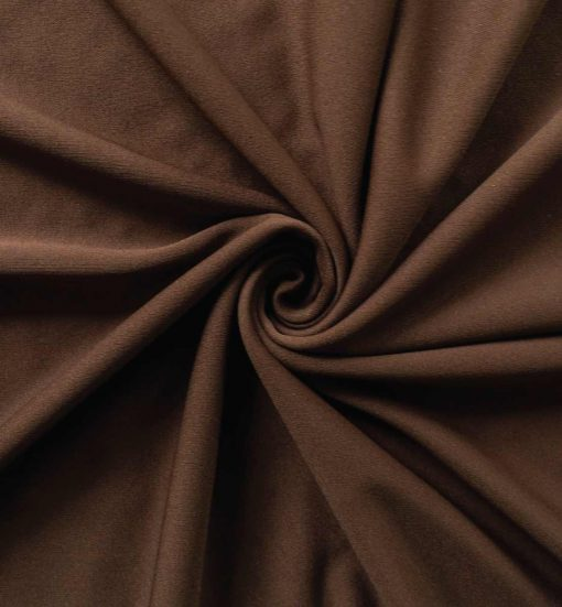 Poly Stretch Drape Chocolate