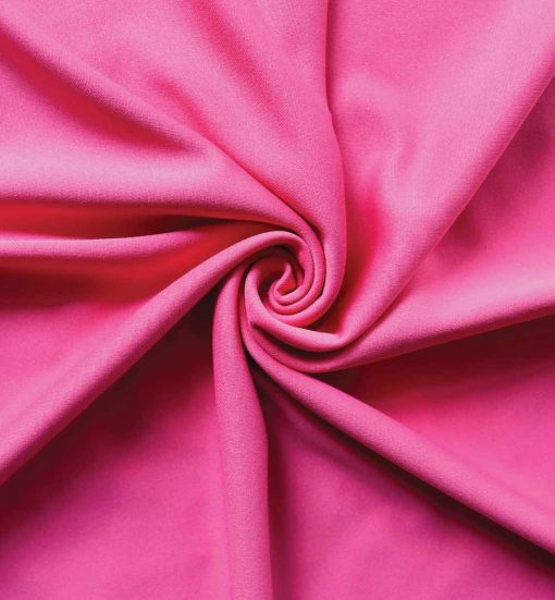 Poly Stretch Drape Hot Pink