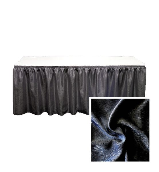 banjo table skirting black