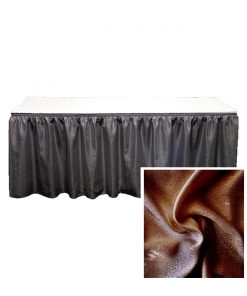 banjo table skirting brown