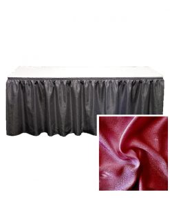 banjo table skirting burgundy