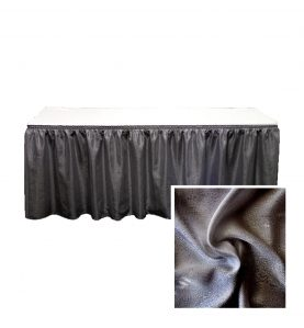 banjo table skirting charcoal