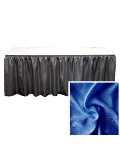 banjo table skirting expo blue