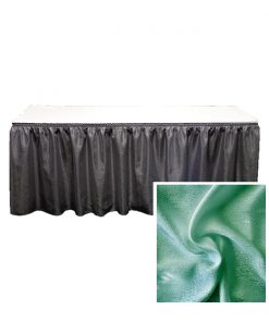 banjo table skirting forest green