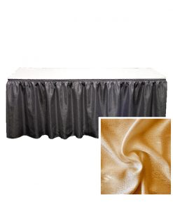 banjo table skirting gold
