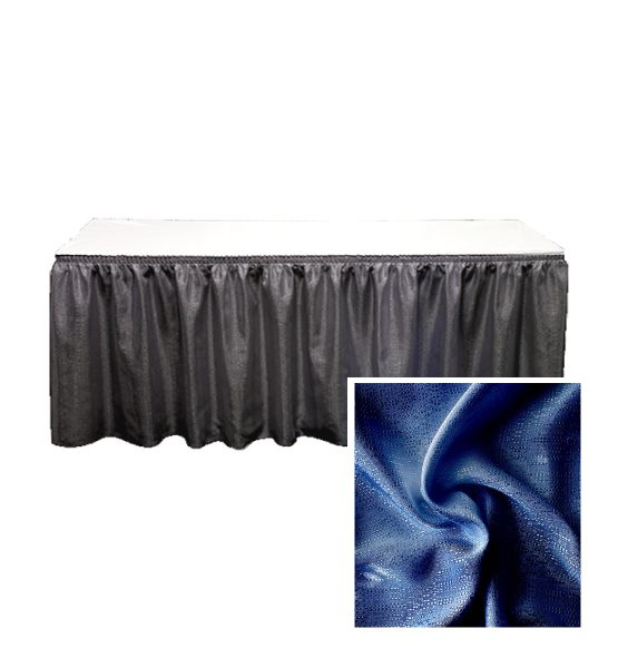 banjo table skirting navy blue