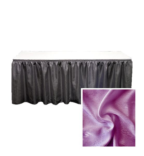 banjo table skirting plum