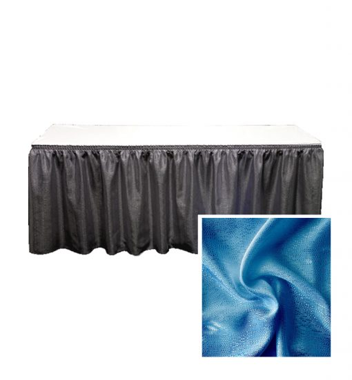 banjo table skirting royal blue