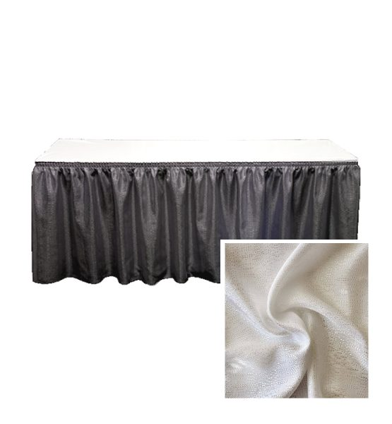 banjo table skirting silver