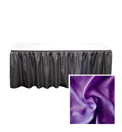 banjo table skirting violet