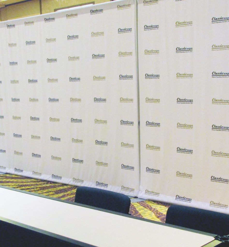 Step and Repeat classic expo backdrop