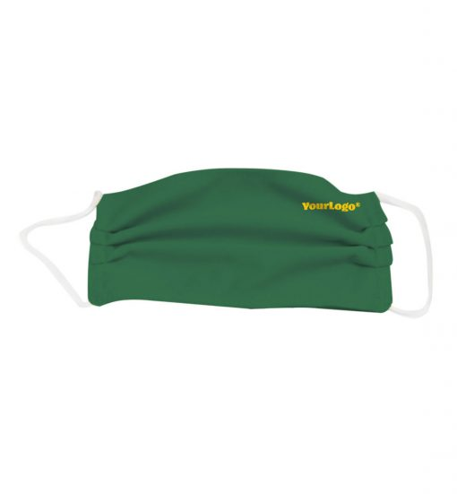 polyester pleated green mask logo on the side