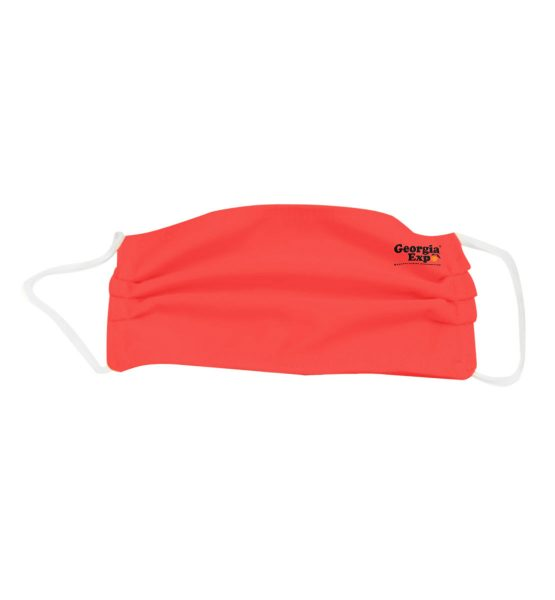 red polyester mask