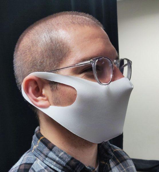 Sleek Fabric Face Mask Ivory
