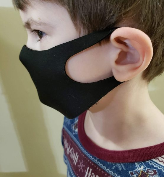 sleek mask in use kids side view