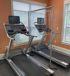 vinyl gym divider