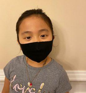 sleek mask kid size front view