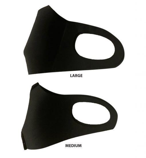 sleek mask black medium and large