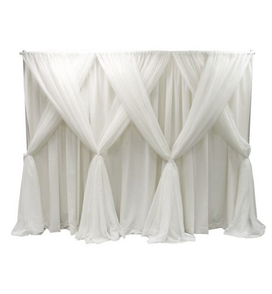 wedding backdrop kit sheer white