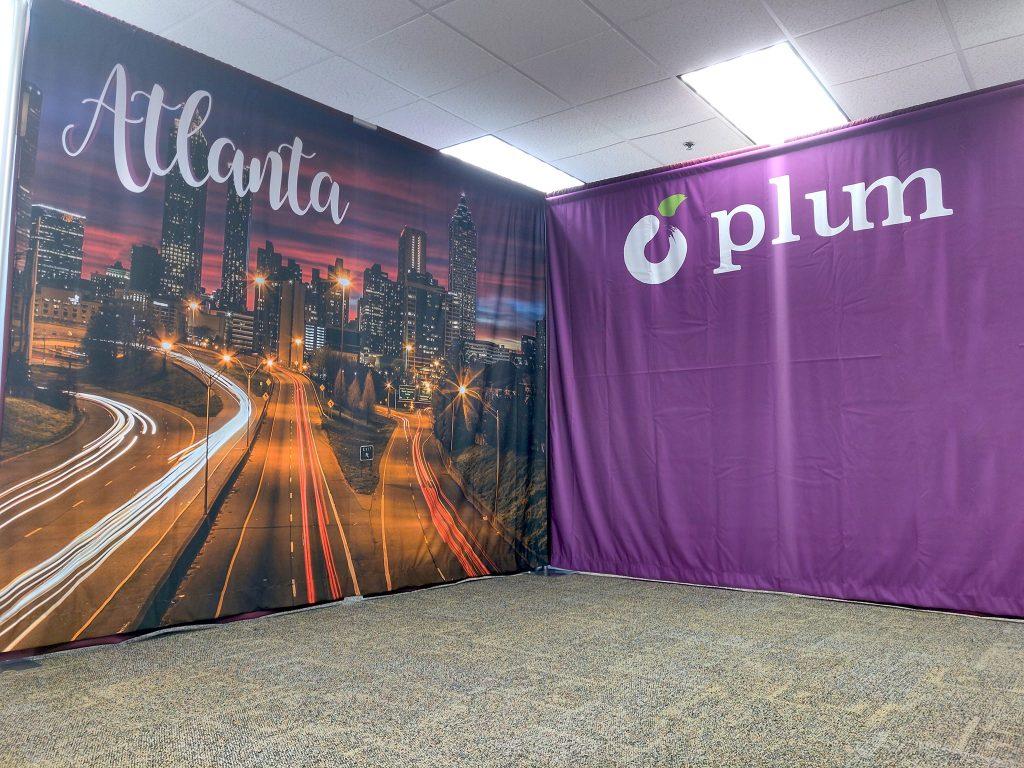 printed fabric backdrop