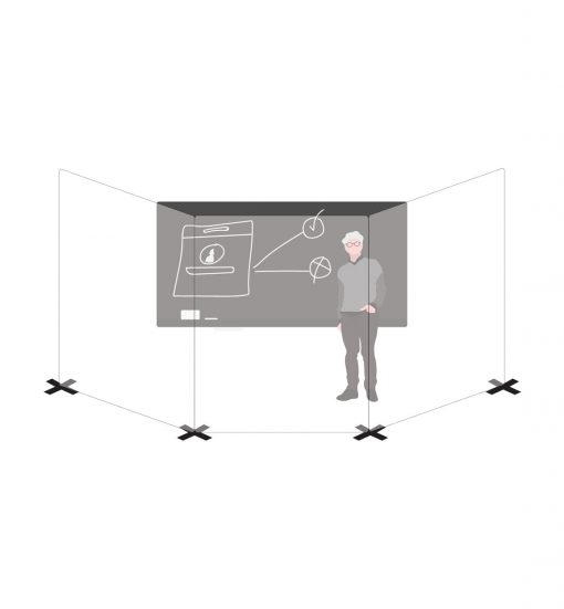 Instructor with isolation wall schematic