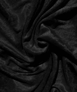 Velvet Stretch Drape Black