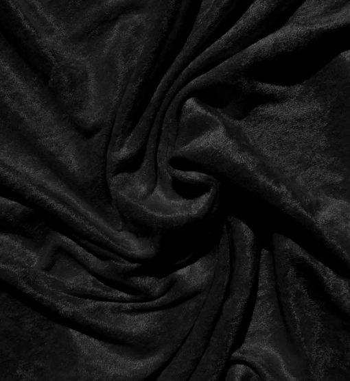 Velvet Stretch Drape Black