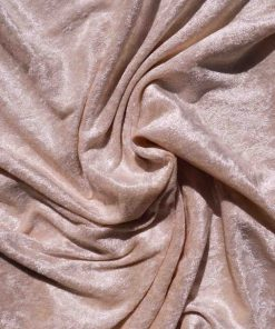 Velvet Stretch Drape Blush