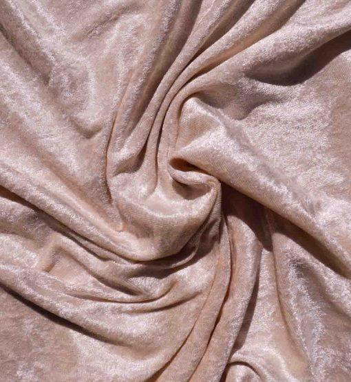 Velvet Stretch Drape Blush