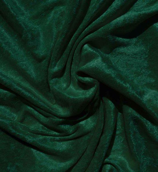 Velvet Stretch Drape Emerald