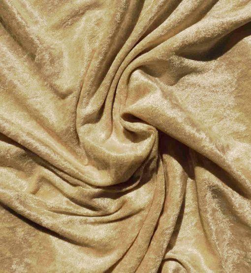 Velvet Stretch Drape Gold