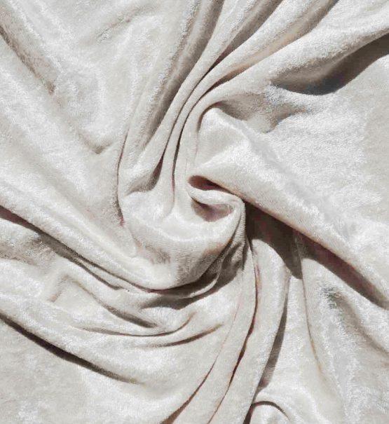 Velvet Stretch Drape Ivory
