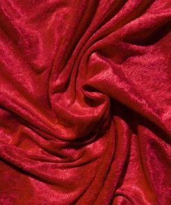 Velvet Stretch Drape Red