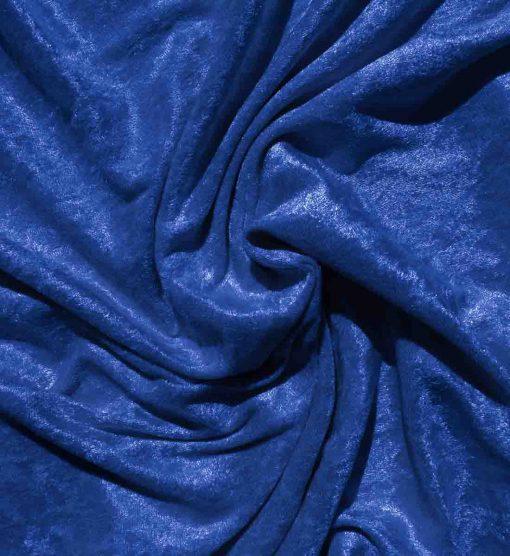 Velvet Stretch Drape Royal Blue