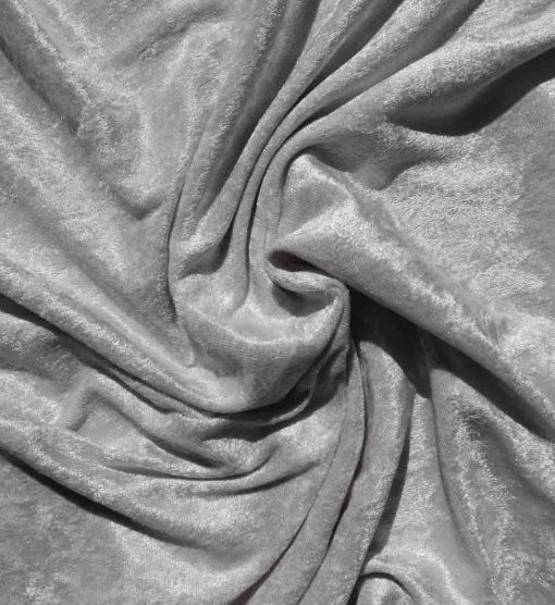 Velvet Stretch Drape Silver