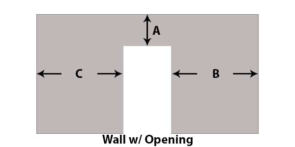 wall with opening